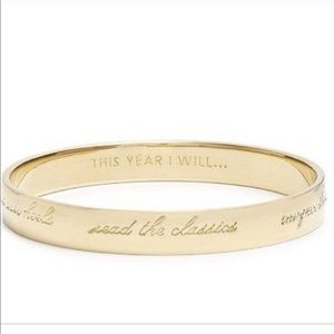 This Year I Will Kate Spade New Year Gold Bangle